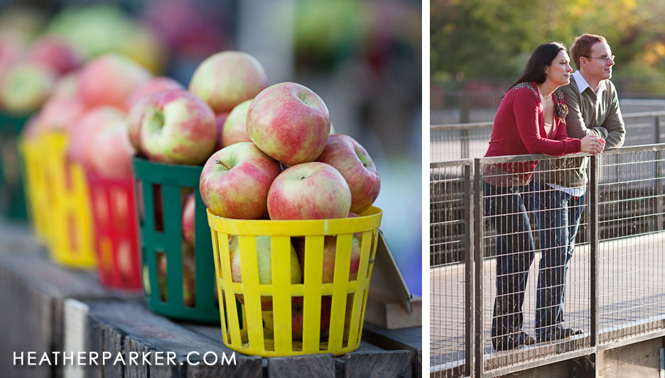 apples engagement session by Heather Parker
