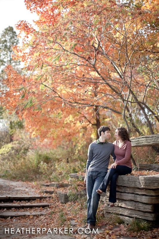 october foliage week engagement