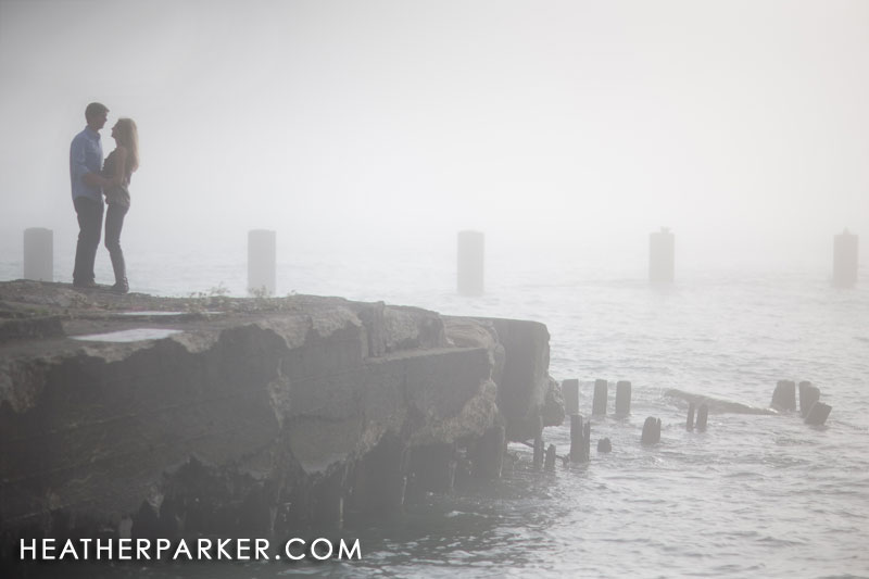 Fog during a photo shoot