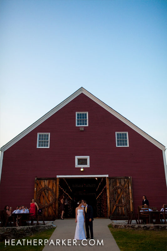 getting married at a red barn near boston