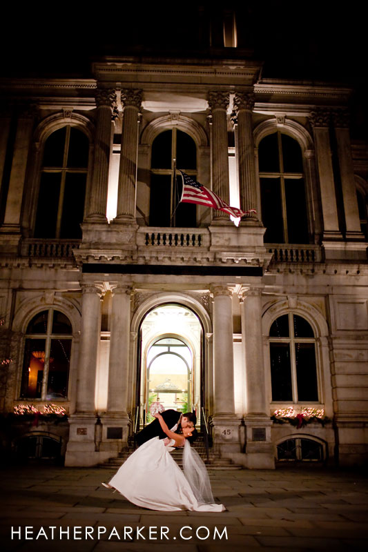 Boston wedding photographer downtown near the Omni Hotel