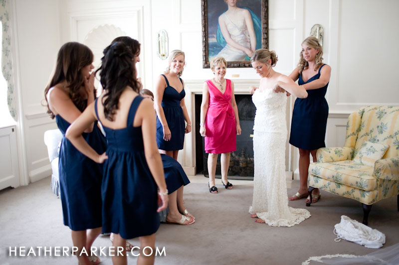 bridal suite at the crane estate mansion where the bride was getting ready
