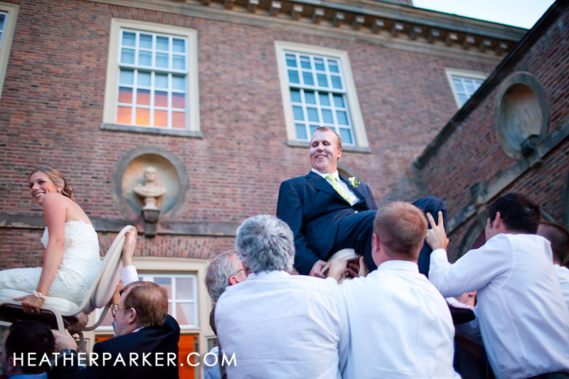 jewish wedding hora outdoors near boston