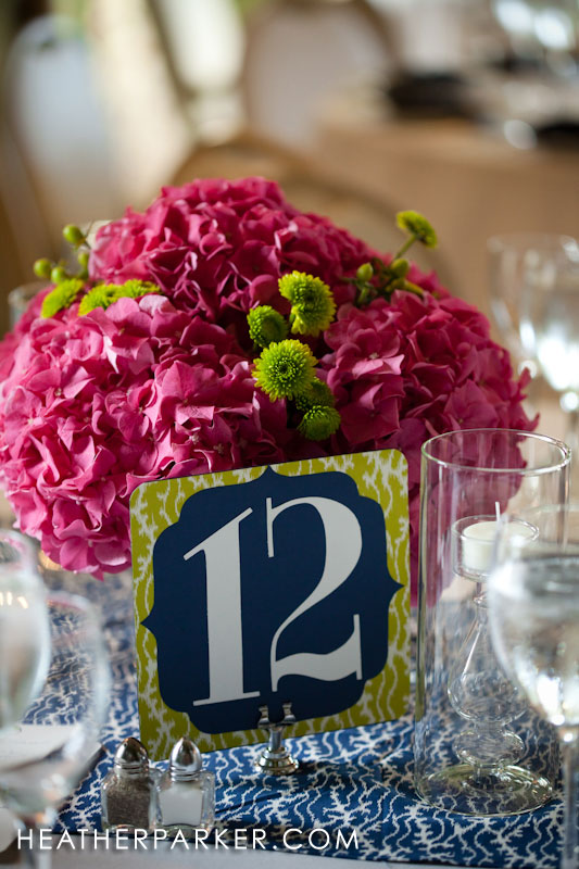 table numbers DIY kitsch etsy blue green