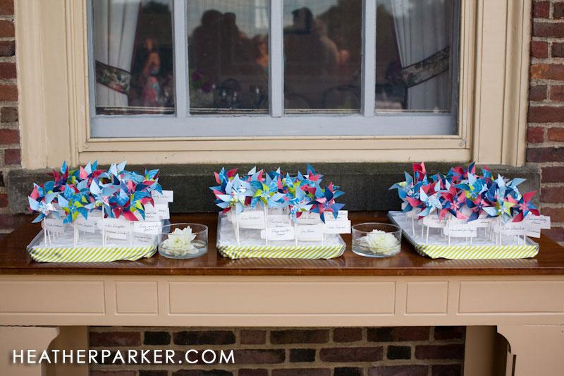 wedding pinwheels for seating