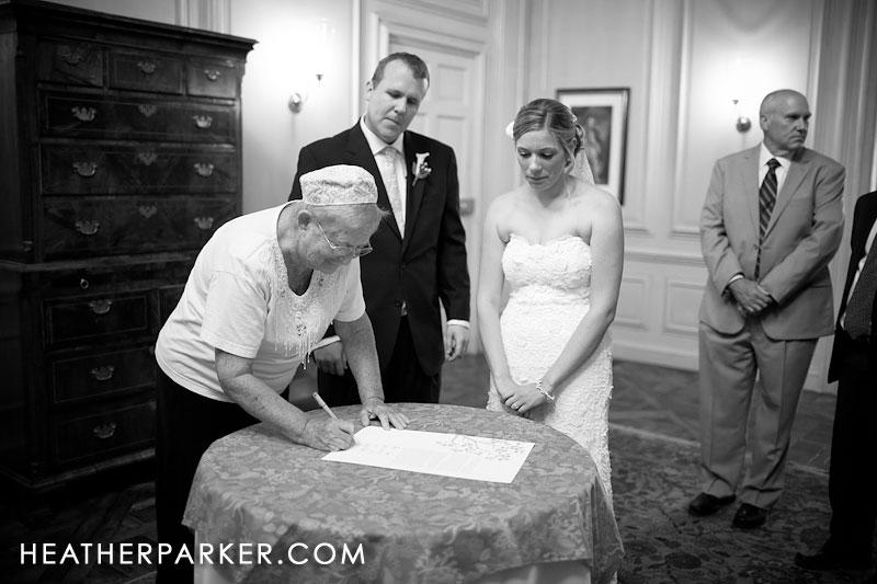 ketubah signing boston jewish wedding