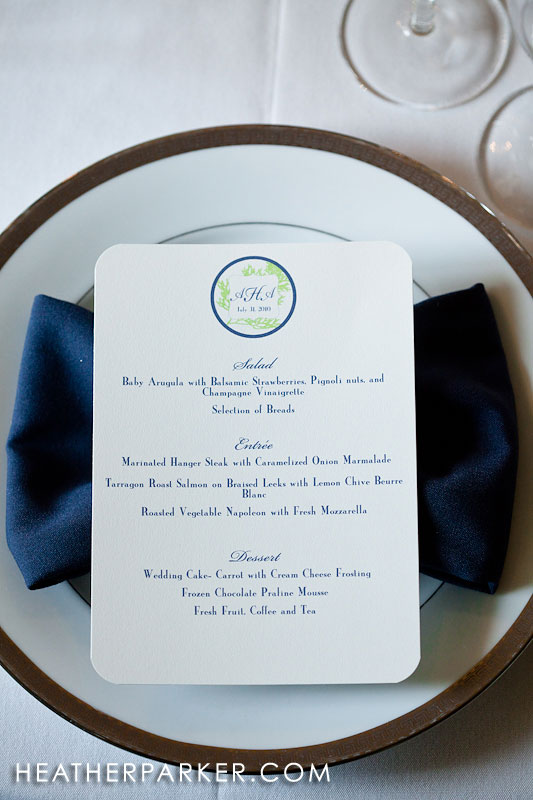 seaside wedding menu new england