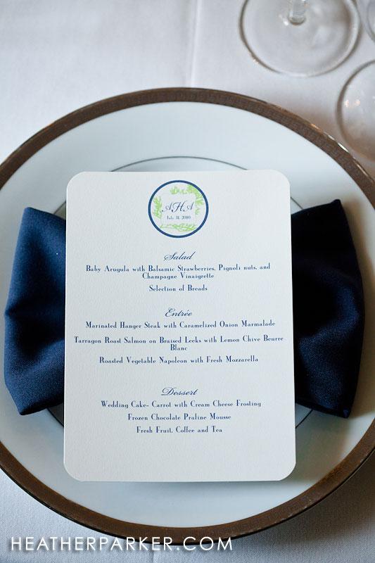 seaside wedding menu new england