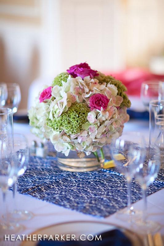 tablecloth overlays on each table