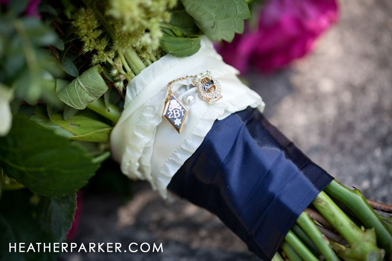 bridal bouquet charm sorority and fraternity
