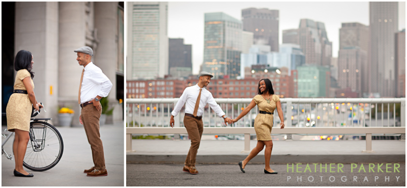styled engagement session boston by heather parker with hair stylist lindsay griffin