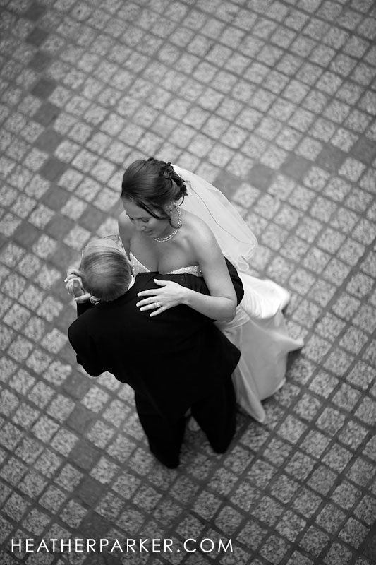 black and white photojournalism style wedding photographer