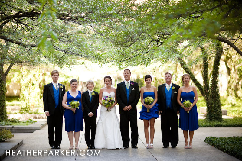 bridesmaid dresses blue with groomsmen vests in blue colors
