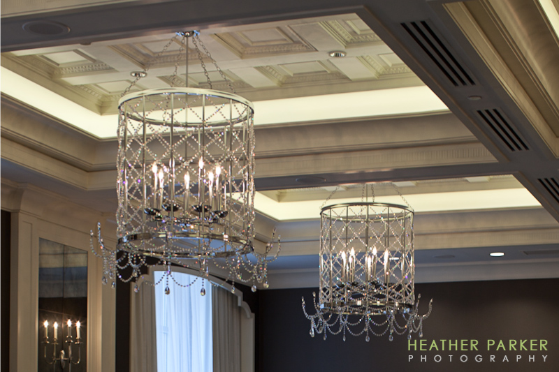 Elysian Hotel ballroom by Chicago wedding photographer Heather Parker