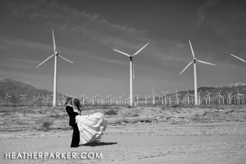 destination wedding photographer in palm springs CA with the bride and groom