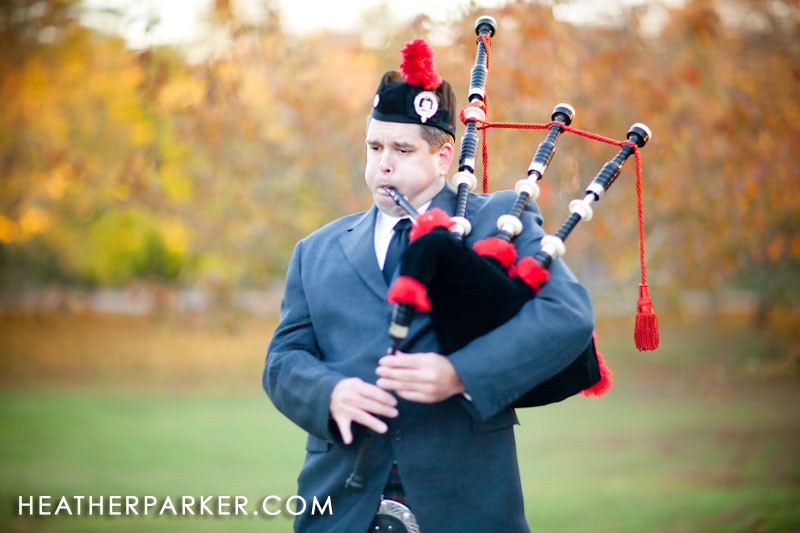 massachusetts wedding bagpiper bag piper