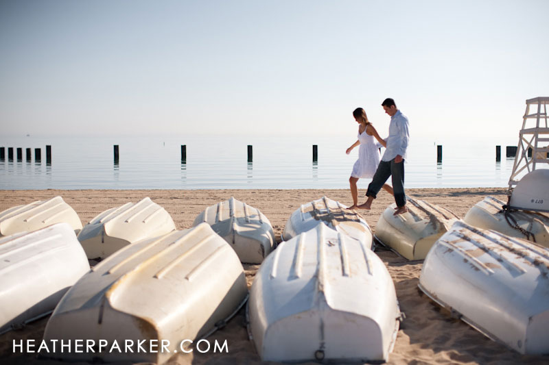 boats engagement photos beach theme