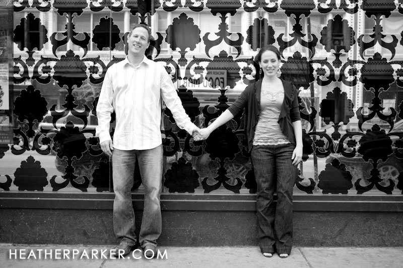 spring engagement photos by heather parker photography