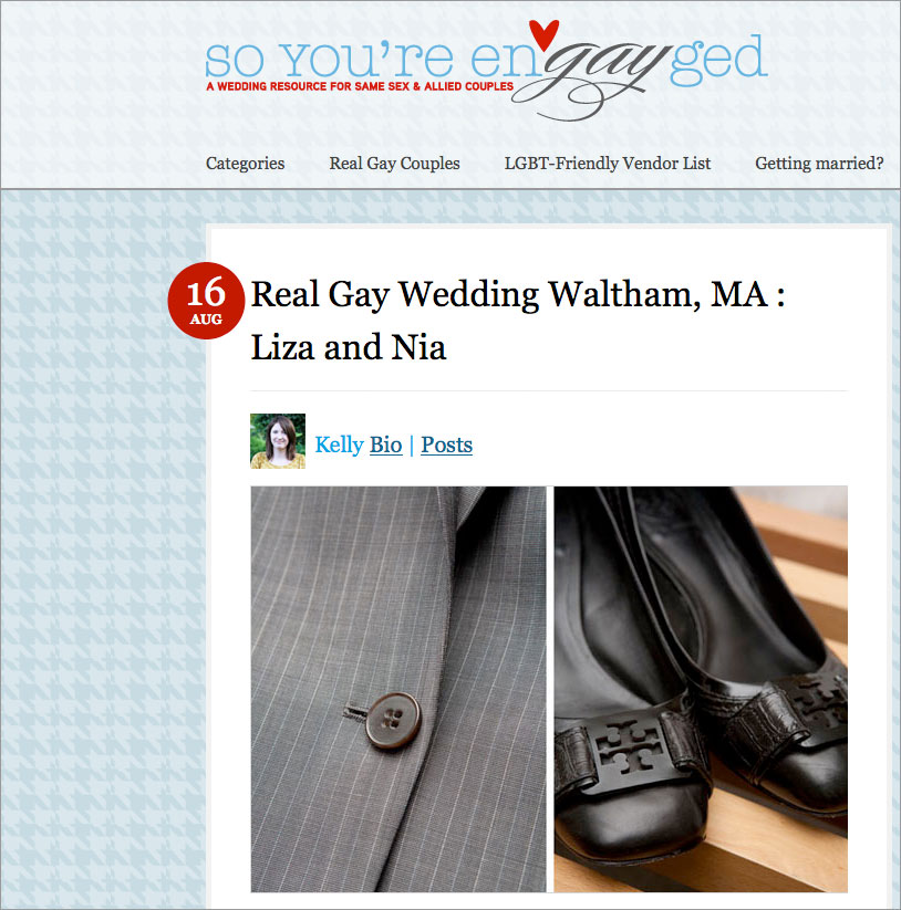 gay wedding blog real weddings feature massachusetts same sex brides