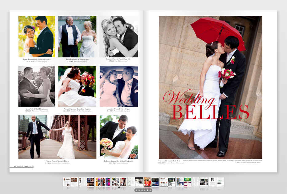 wedding magazine featured real wedding clients