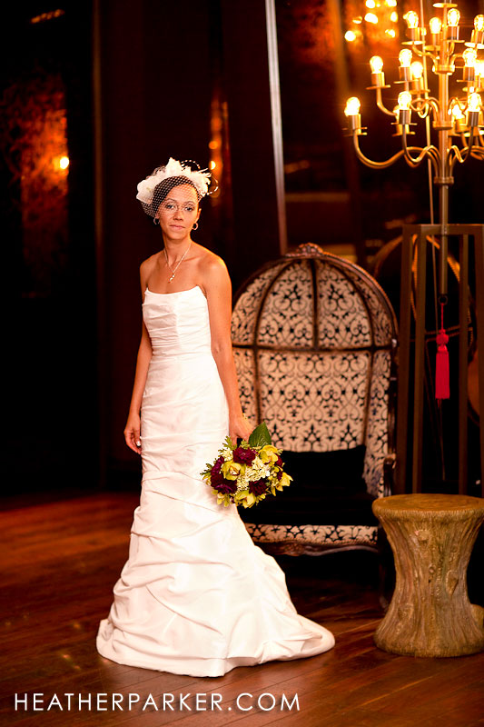 beautiful bride at Chicago Hotel Sax