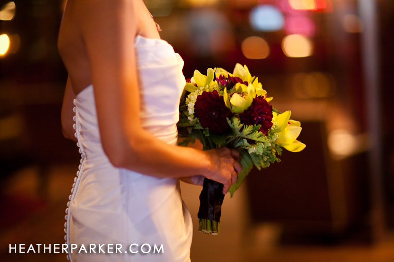 bridal bouquet in chicago at the crimson lounge