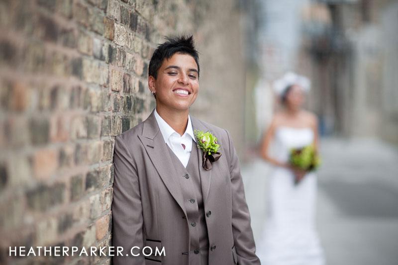 two brides on their wedding