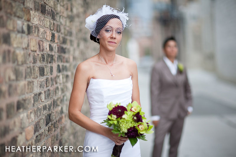 creative photography of the brides