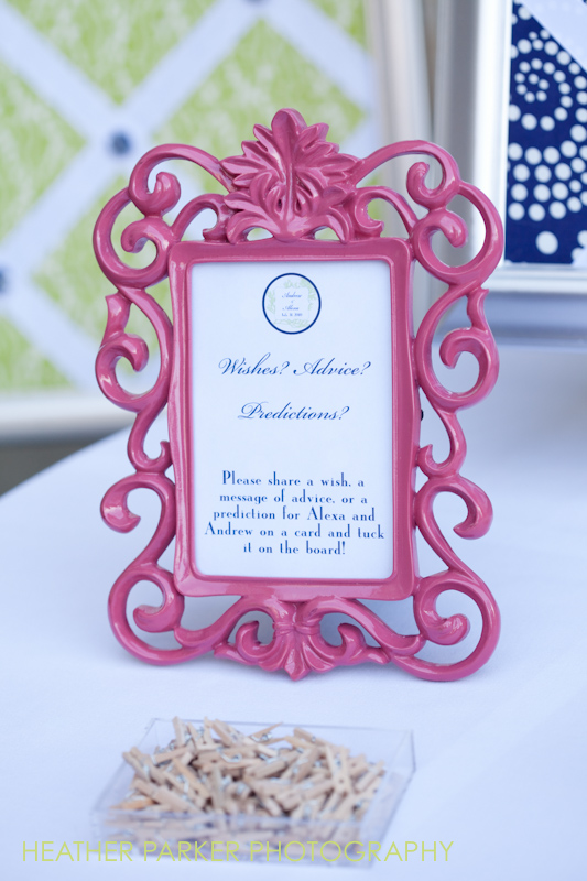 guestbook frame pink