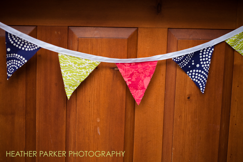 pennant banner for summery outdoor wedding DIY
