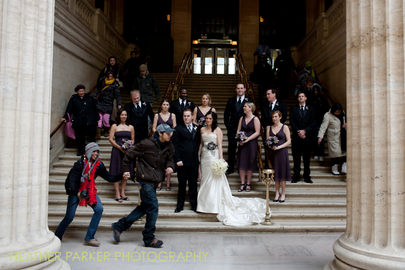 train station wedding photos at Union Station