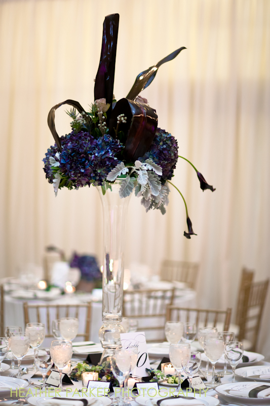 blue wedding centerpieces flowers