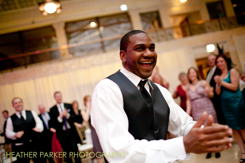 Rookery reception wedding photos in Chicago