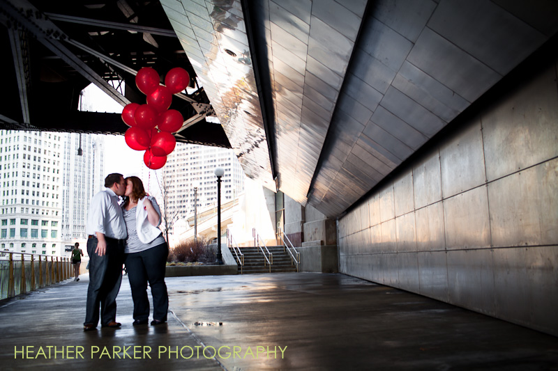 adler planetarium wedding couple: Katie and Craig's engagement photos