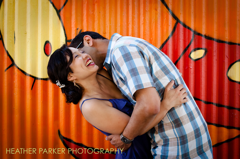 chicago wedding photographer heather parker engagement session for annie and sunil in wicker park where there were hipsters everywhere