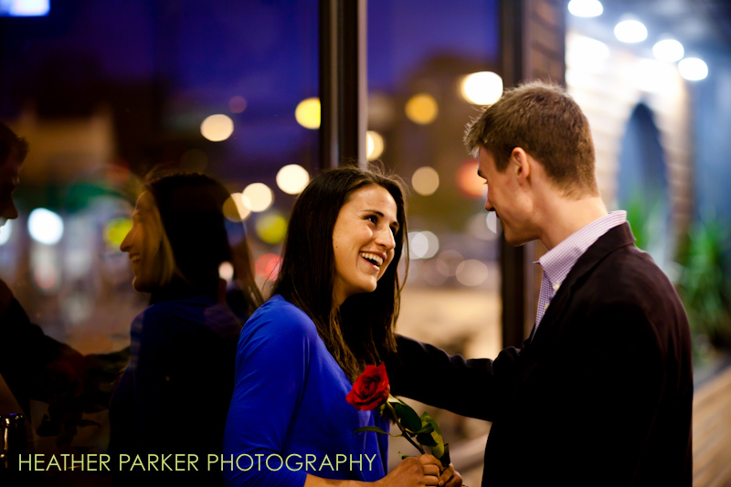 night engagement photos in the city