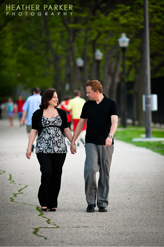 chicago lakefront engagement session by wedding photograhper Heather Parker