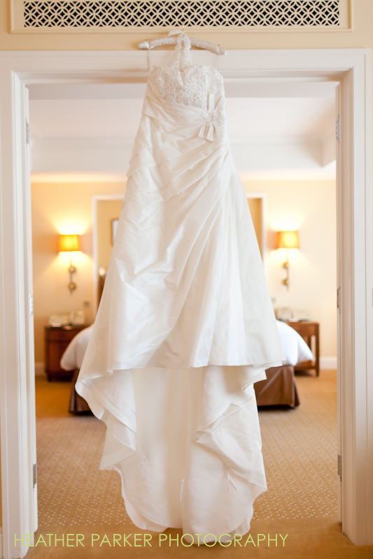 Peninsula Hotel bridal suite and wedding gown