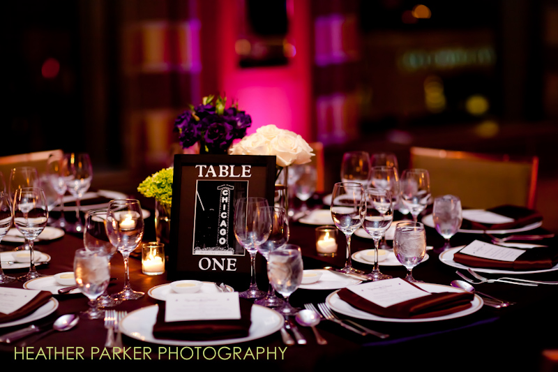 table centerpieces for a luxury wedding at the Peninsula Hotel