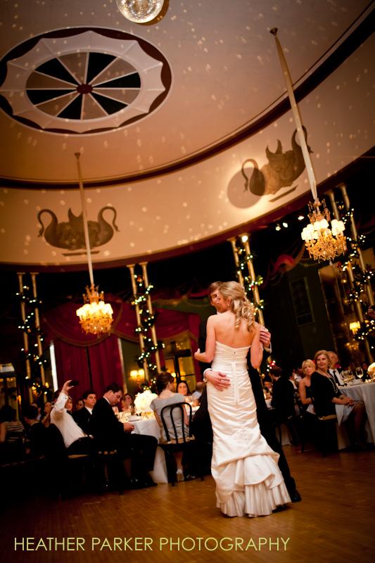 venue photos during a wedding first dance
