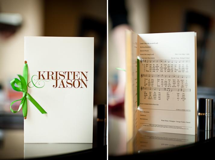 wedding ceremony program graphic design