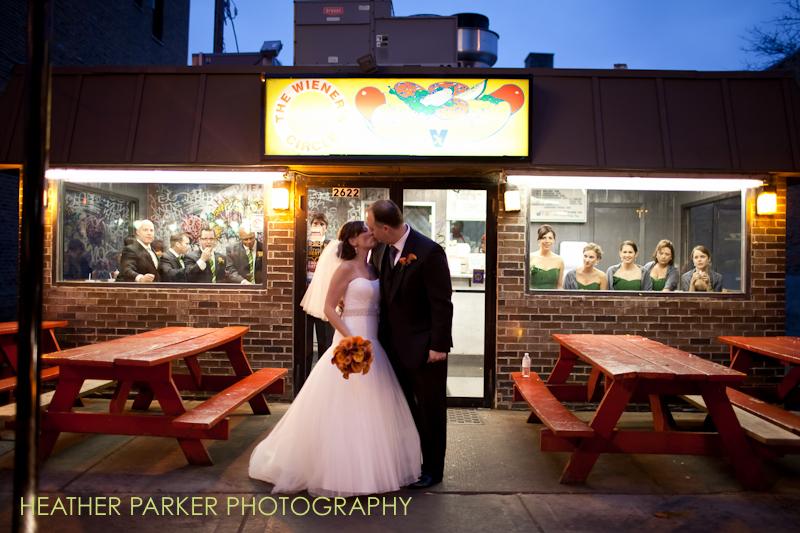 wiener circle bride groom and bridal party
