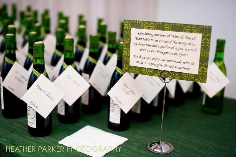 wine wedding favor