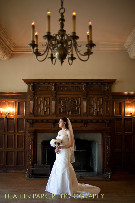 chicago bride Carolyn on her wedding day at the University of Chicago