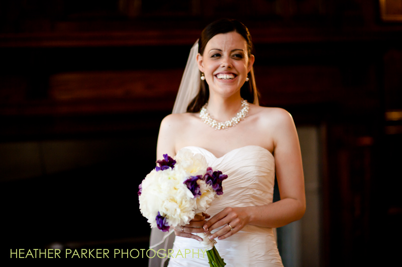 University of Chicago bride first look before the ceremony