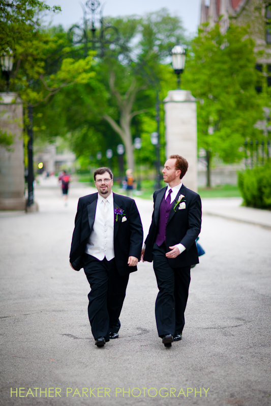 groom and best man at university of chicago
