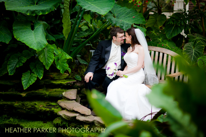 Garfield Park Conservatory wedding photographer Heather Parker
