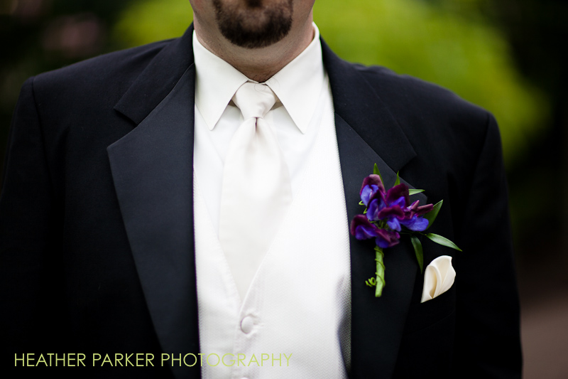 Color & Company chicago wedding flowers for groom