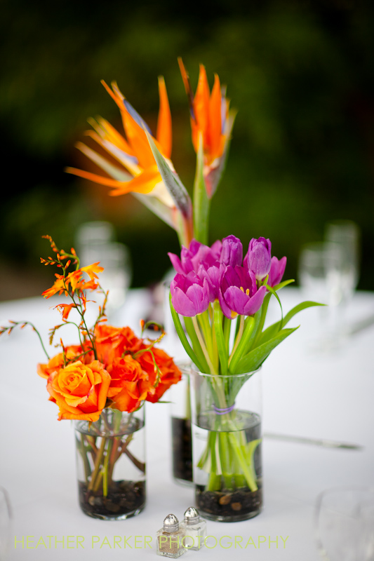 Chicago wedding flowers by Color and Company centerpieces at Garfield Park Conservatory