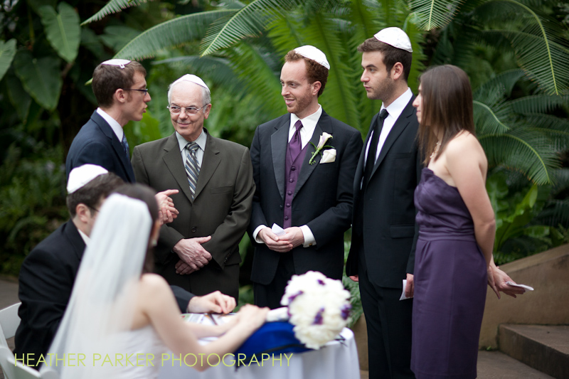 ketubah jewish wedding ceremony in Chicago at the Palm Room in Garfield Park Conservatory